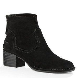 UGG® Bandara Suede Block Heel Ankle Booties